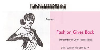 FASHION GIVES BACK!  Fashion Show at NorthBrook Court Shopping Mall presented by FashionBar!