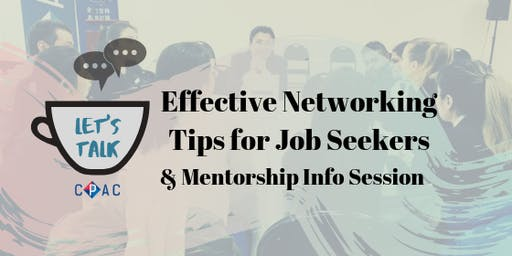 Networking Tip for Job Seekers & CPAC-RBC Mentorship Program Info Session