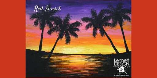 Red Sunset - Paint and Sip