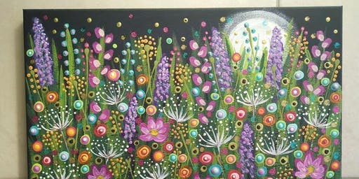 POP UP Painting Class - Moonlight over the Garden at Soule' Studio
