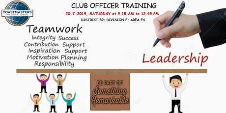 LES FORMATIONS TOASTMASTERS| CLUB OFFICER TRAINING billets