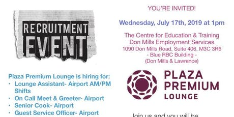Plaza Premium hiring event tickets