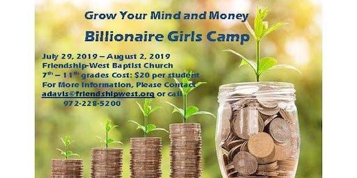 Billionaire Girls Camp
