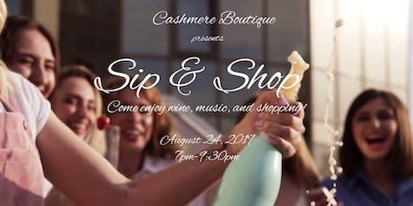 Cashmere Boutique Luxury Sip & Shop tickets