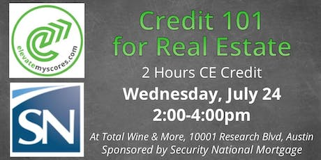 Credit 101 for Real Estate 2hr CE @ Total Wine & More tickets