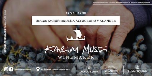 Degustación de vinos de Alta Gama de Karim Mussi