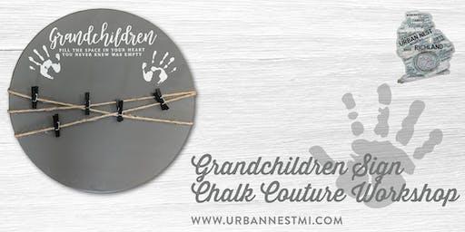 Chalk Couture Grandchildren Wood Sign Workshop