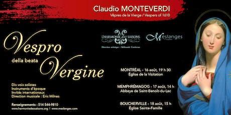 Vêpres de la Vierge de Monteverdi tickets