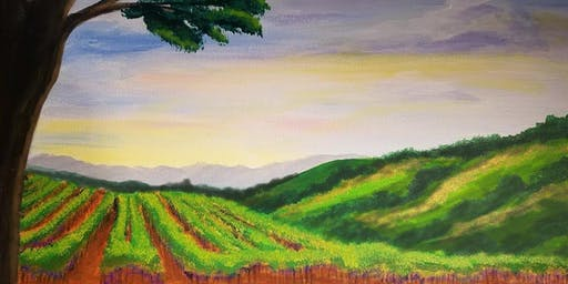 Vineyard Sunset Painting Party at Brush & Cork