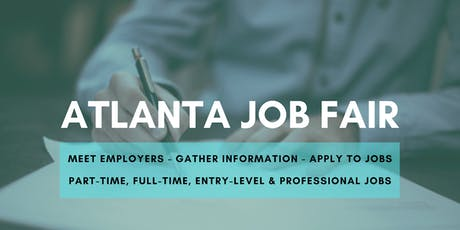 Atlanta Job Fair - August 6, 2019 Job Fairs & Hiring Events in Atlanta GA tickets