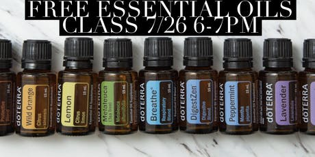 Essential Oils Class DIY Make and Take tickets