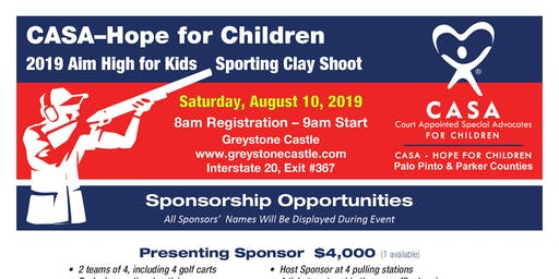 Aim High for the Kids - Clay Shoot CASA Hope for Children