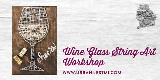 Wine Glass String Art