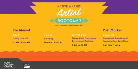 Native Market Artist Bootcamp:  Cash Flow & Managing your budget tickets