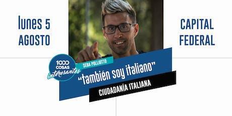"""Conferencia """"También soy italiano"""" Buenos Aires entradas"""