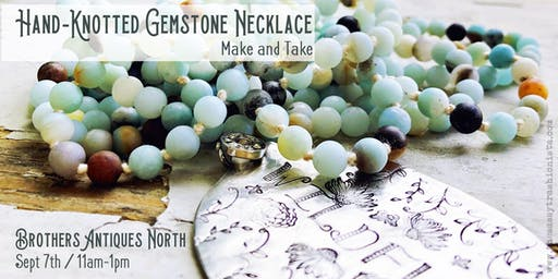 Hand-Knotted Gemstone Necklace Make and Take