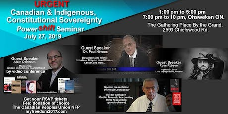 Urgent Canadian & Indigenous Constitutional Sovereignty Powershift Seminar tickets