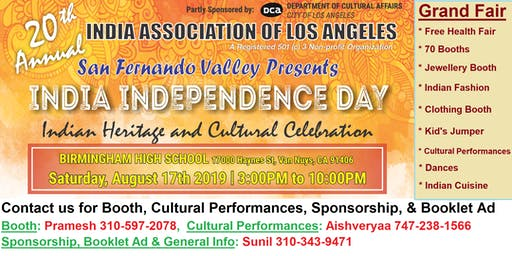 Outdoor India Day Grand Fair - Heritage & Culture  Celebration