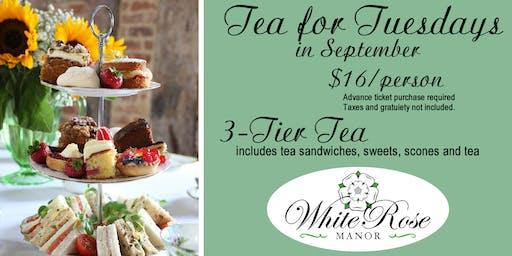 Tea for Tuesdays in September