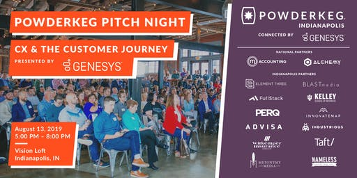 Powderkeg Pitch Night: CX & The Customer Journey (Presented by Genesys)