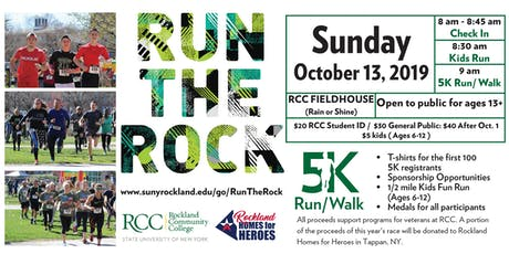 Run the Rock 2019 - 5K Fun Run/Walk in Support of Veterans' Services tickets