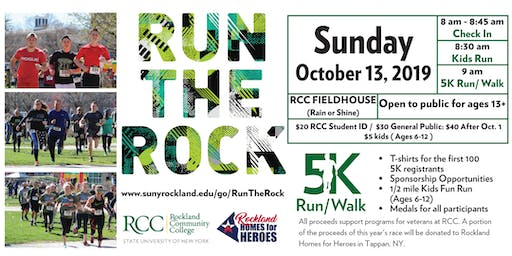 Run the Rock 2019 - 5K Fun Run/Walk in Support of Veterans' Services