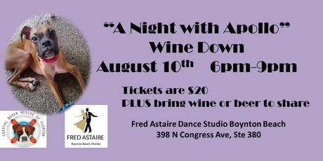 """A Night with Apollo"" Wine Down tickets"