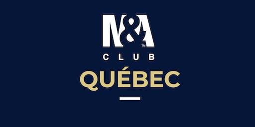 M&A Club Québec : Réunion du 18 septembre 2019 / Meeting September 18, 2019