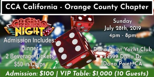 2019 CCA Orange County Chapter Casino Night