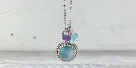 Larimar Pendant Class—make a sterling silver Larimar necklace tickets