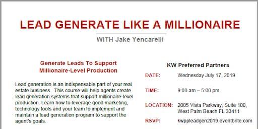 Lead Generate like a MIllionaire