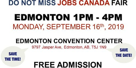 Edmonton Job Fair - September 16th, 2019 tickets