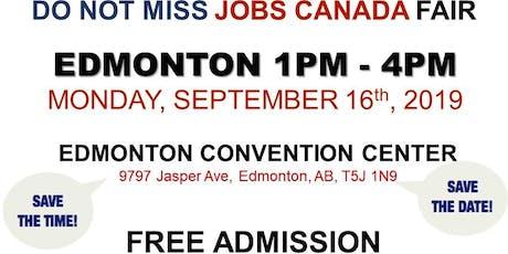 Edmonton Job Fair - September 16th, 2019 tickets