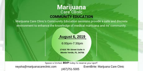 Community Education with Marijuana Care Clinic tickets