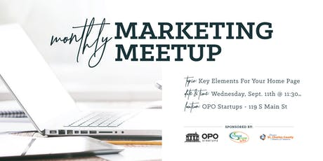 Marketing Meetup: Key Elements To Have on Your Home Page tickets