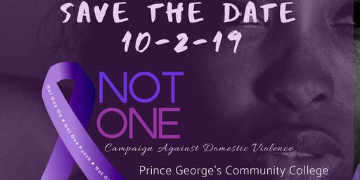 NOT ONE Campaign Against Domestic Violence Event