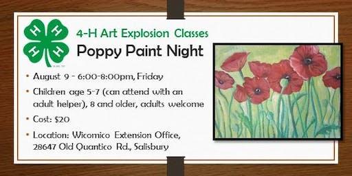 4-H ART Explosion - Poppy Paint Night