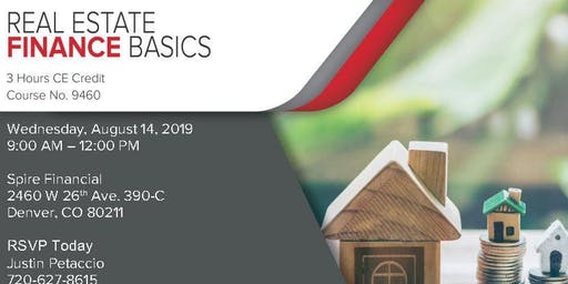 CE Class For Real Estate Agents - Real Estate Finance Basics (NO COST!)