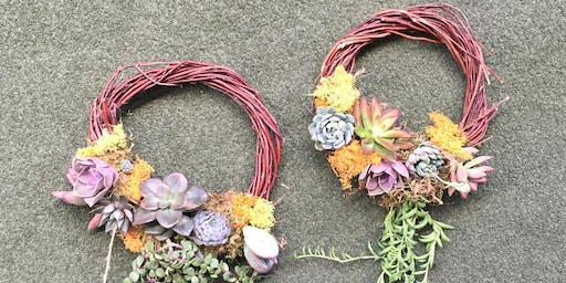Grapevine Succulent Wreath Workshop