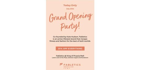 Fabletics Grand Opening Party at King of Prussia Mall tickets