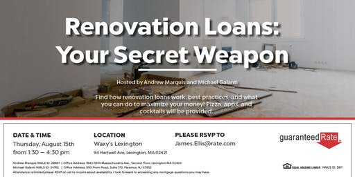 RENOVATION LOANS: YOUR SECRET WEAPON WITH ANDREW MARQUIS!