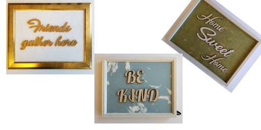 Photo frame word- family name decor