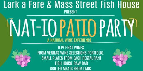 """Nat-io Patio Party """"a natural wine experience"""" tickets"""