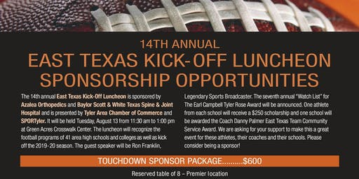 2019 14th Annual East Texas Kickoff Luncheon
