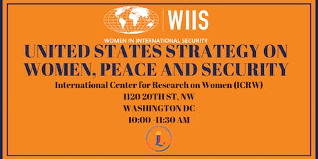 United States Strategy on Women, Peace & Security Policy Roundtable tickets