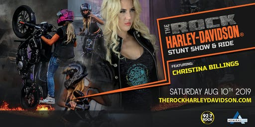 The Rock Harley-Davidson Stunt Show and Ride ft. Christina Billings