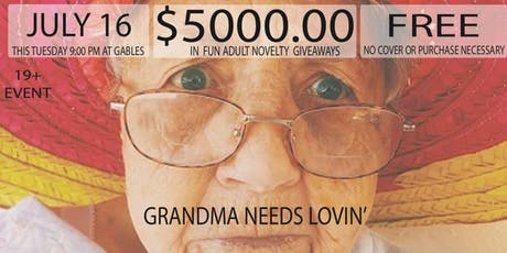 Grandma Needs Lovin' FREE BINGO $5000 MSRP Novelty Giveaways tickets