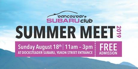 Vancouver's Subaru Club Meet hosted by Docksteader Subaru tickets