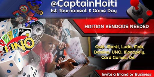 $100 to WIN at Captain Haiti's Game Day