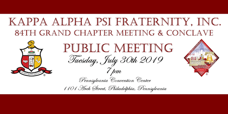 Public Meeting for the 84th Grand Chapter Meeting & Conclave tickets